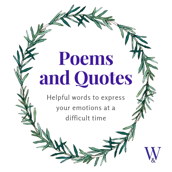 Funeral poems and quotations